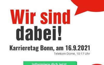 Karrieretag Bonn: Wir sind dabei!